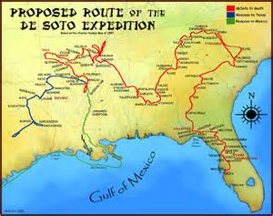 Image result for Hernando De Soto claimed Florida for Spain.