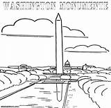 Coloring Monument Washington Pages Statue Valley Template Designlooter Sketch 42kb 983px 1000 sketch template