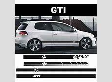 Sticker Vinil Tuning Lateral Decals Volswagen Gti $ 349