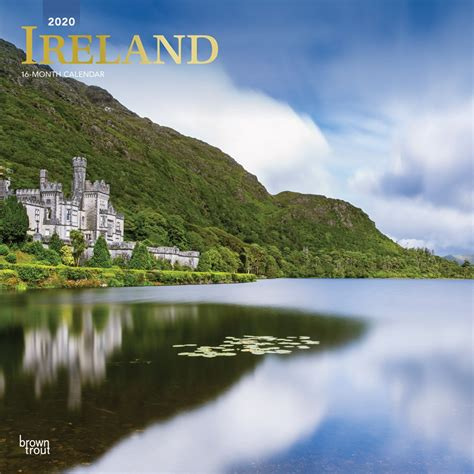 ireland monthly square wall calendar foil