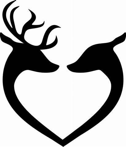 Deer Heart Clipart Silhouette Transparent Couple Webstockreview
