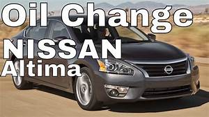 Nissan Altima Oil  Filter Change-- 2013 2 5l 4cyl