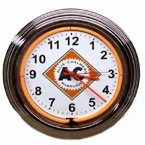 Neon AC Logo Clock2