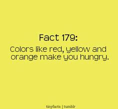 colors that make you hungry facts by sexyyame on facts
