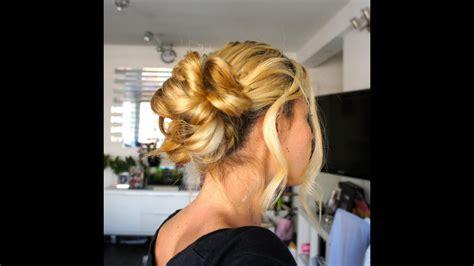 tuto coiffure 26 chignon romantique chic et facile easy hairstyle bun updo