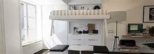 Lit Escamotable Plafond : lit suspendu plafond pas cher lit escamotable maison vasp ~ Premium-room.com Idées de Décoration