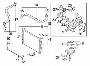Hyundai Sonata Gasket  Thermostat  Engine  Coolant