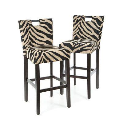 Zebra Bar Stools Wildon Home 174 Lakes Barstool In Zebra Print For