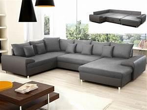 Canapé Panoramique Gris : le canap panoramique mobilier canape deco ~ Teatrodelosmanantiales.com Idées de Décoration