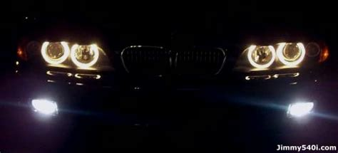 bmw headlights at night vwvortex com bmw eagle eyes headlights conversion