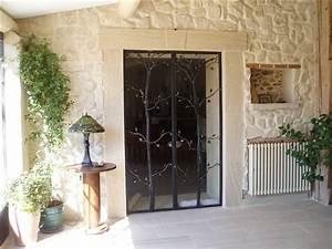 Porte D Intérieur Sur Mesure : porte d 39 entr e en fer forg vitr e porte sur mesure en ~ Dailycaller-alerts.com Idées de Décoration