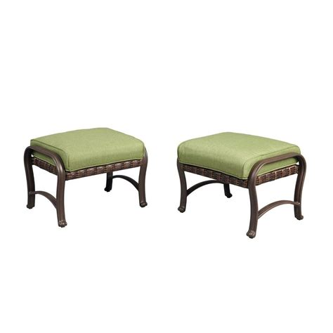 hton bay pembrey patio ottomans with moss cushions 2