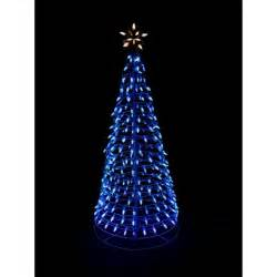 home accents holiday 6 ft pre lit led blue twinkling tree sculpture with star shop your way