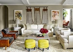 1001 exemples de decoration interieure salon actuelle With tapis berbere avec canapé jaune curry