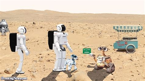Space Robots On Mars
