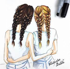 Drawn saying best friend - Pencil and in color drawn ...