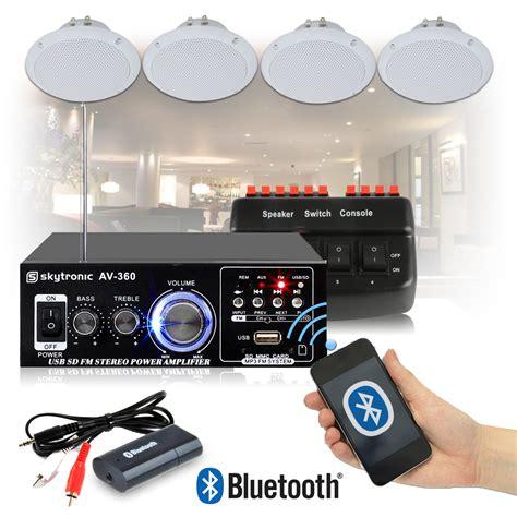 cafe restaurant shop bluetooth amplifier ceiling speaker