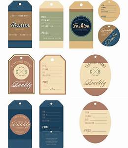 Apparel vector tag denim set | Free download