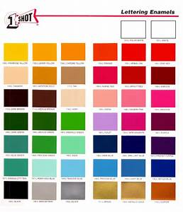 1 shot lettering enamel paint css e store With one shot lettering enamel color chart