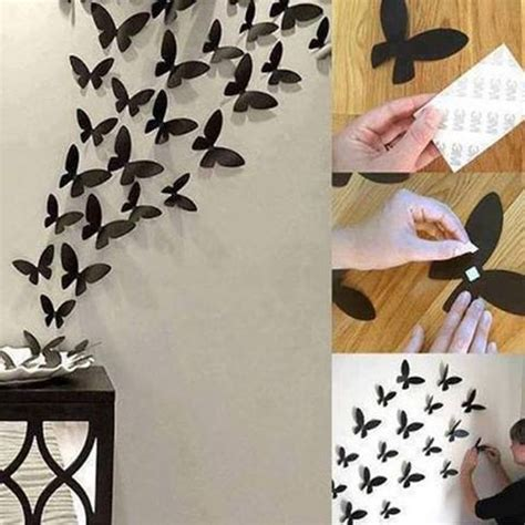 simple diy tip  add  beauty  black butterflies