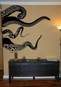 Large kraken octopus tentacles vinyl wall decal choose any for Octopus wall decal