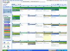 Google Calendar Colored Alpha Efficiency