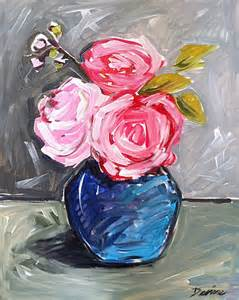 Abstract Roses Painting On Canvas