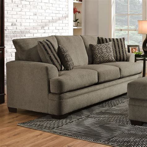 American Furniture Sofa by American Furniture 3650 Casual Sofa With 3 Seats Darvin