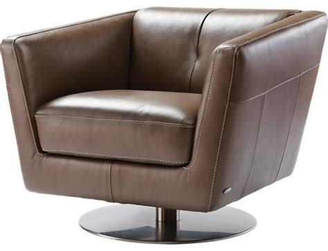 Cindy Crawford Home La Salina Leather Swivel Chair