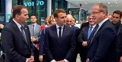 swedish prime minister  french president sign strategic