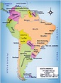 Large Map Of South America