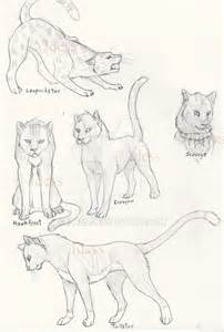 warrior cat drawings warriors cats by idess on deviantart