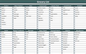 How To Make A Grocery List grocery list template
