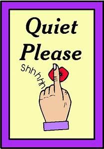 Shhh Quiet Please Sign - ClipArt Best