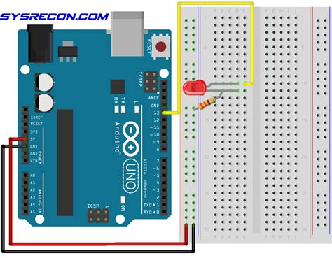 arduino how to make an led blink sysrecon