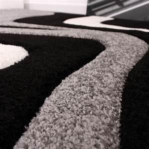 Teppich Bettumrandung 3 Teilig : bettumrandung l ufer teppich trendig modern grau schwarz weiss l uferset 3tlg teppiche ~ Bigdaddyawards.com Haus und Dekorationen