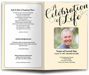 contemporary designs carolyna celebration of life single fold template changeable color With free celebration of life program template