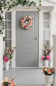 Simple, And, Sweet, Spring, Door, Decorating, Ideas
