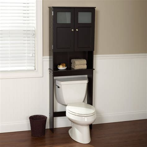 Bathroom Rustic Unstained Wooden Bathroom Cabinet Storage