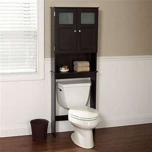black matte laminated particle wood above the toilet With kitchen cabinets lowes with baseball stadium wall art