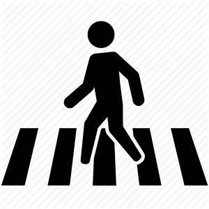 Crossing, crosswalk, pedestrian, road, sign, street icon ...