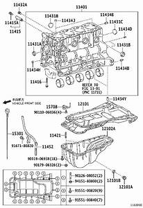 2016 Toyota Tacoma Spacer  Cylinder Block Water Jacket