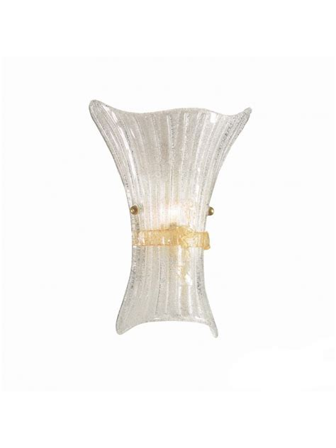 applique in vetro applique classico in vetro murano 1 luce fiocco big