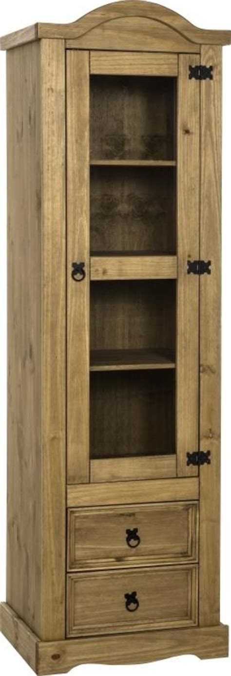 corona mexican pine  door glass display unit  stop