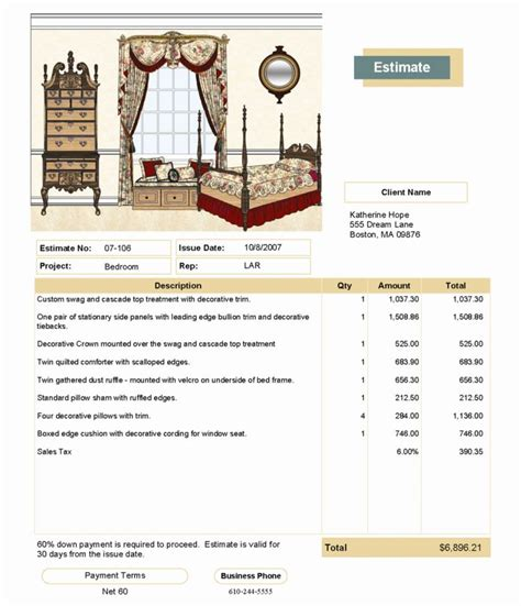 free painting bid template quick quote for quickbooks