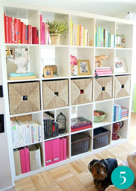 Decorating Bookshelves With Baskets by 10 Easy And Creative Shelving Organization Ideas For Your Home