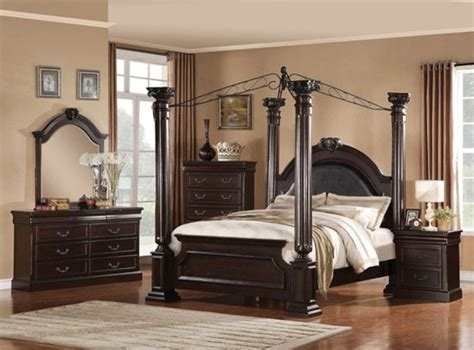 Furniture Canopy Bedroom Sets by Acme Furniture Empire Ii 5 King Canopy