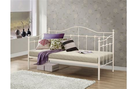birlea torino ft single cream metal day beds