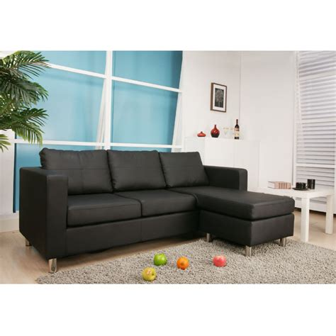 Interchangeable Sofa bonded leather interchangeable sectional sofa with ottoman