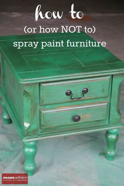 How To Spray Paint Furniture « Momadvice